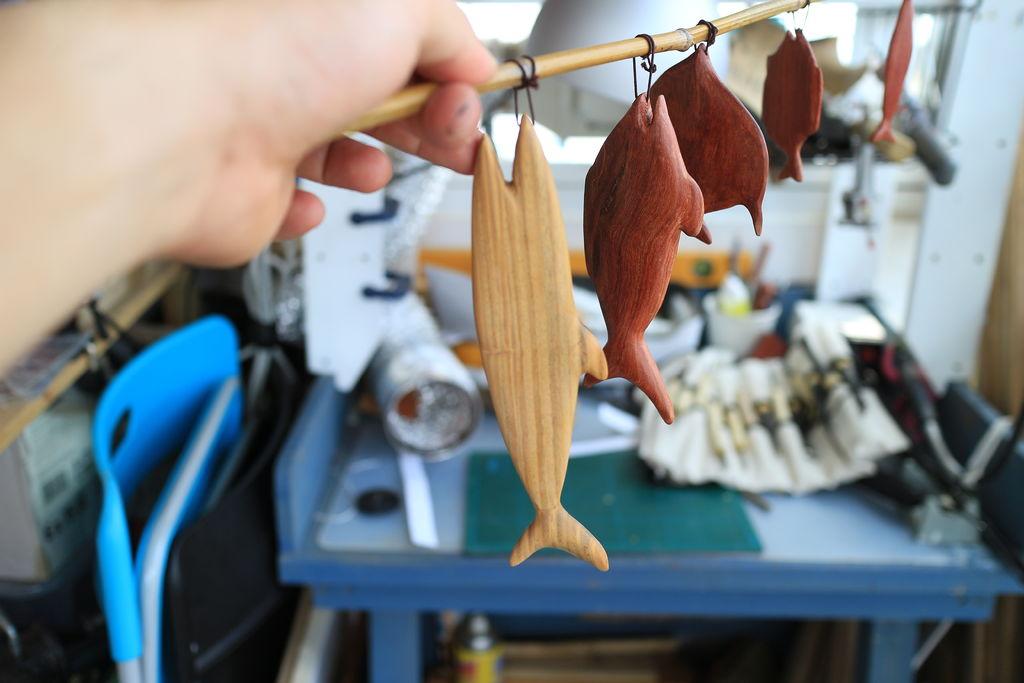 Деревянные рыбки