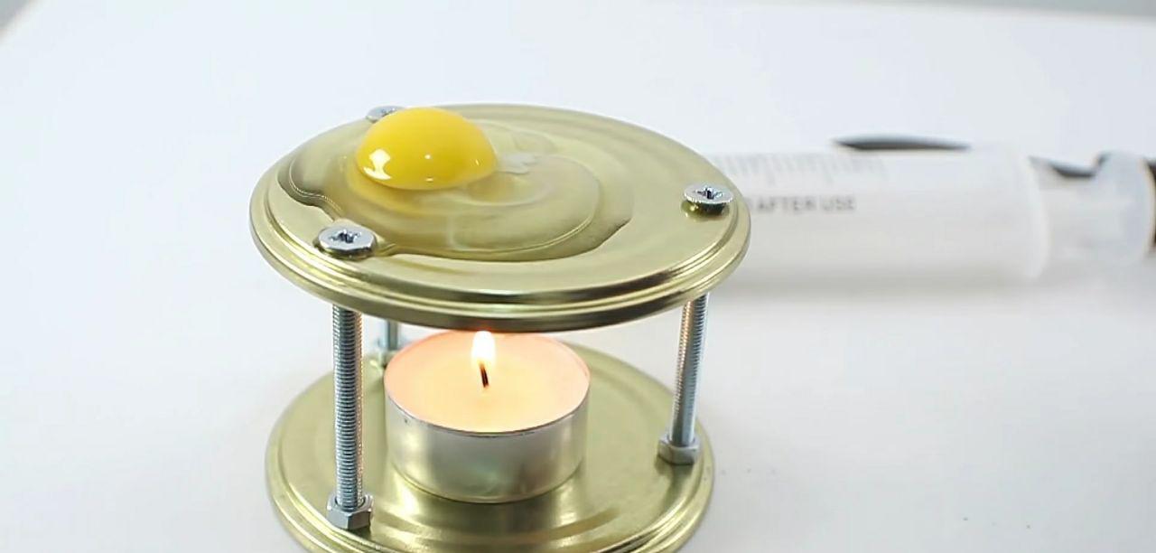 Яичница на свече