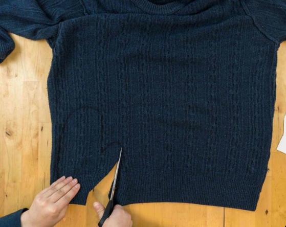 Вырезать из свитера