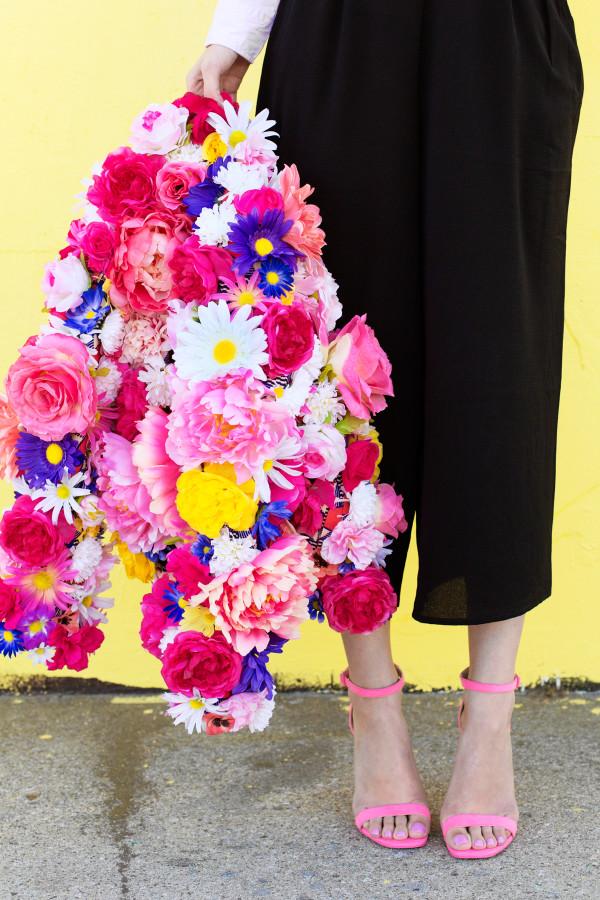 Бомбер из цветов