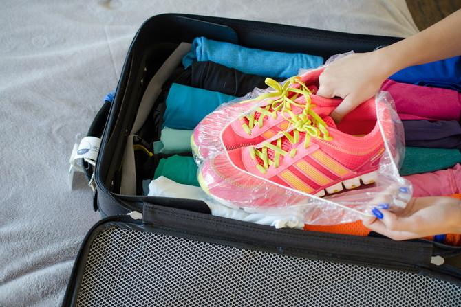 В чемодане