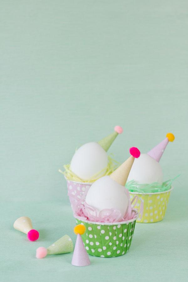 Яйца в колпачках