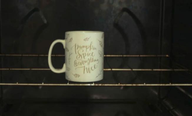 Кружка в духовке