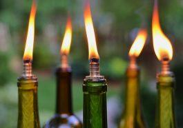 Свечи из бутылок
