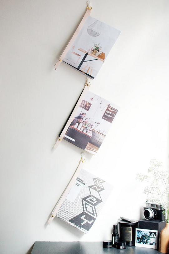 Держатель для книг на стену