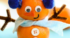 Снеговик из мандаринов