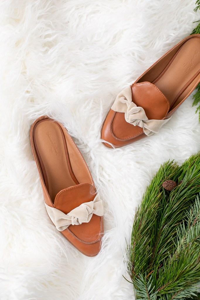 Банты из бархата для обуви