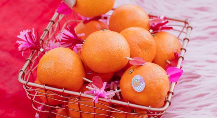Подарок из мандаринов