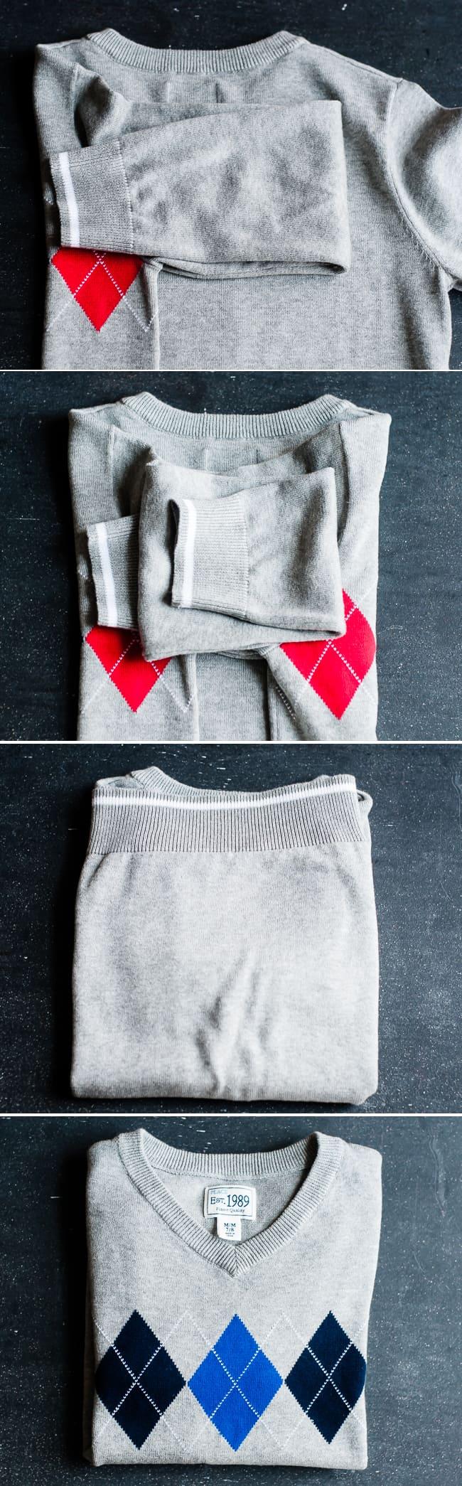 Как всернуть свитер