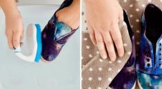 Как почистить обувь из ткани