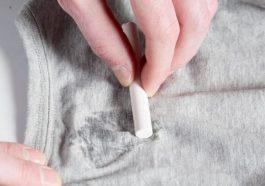 Как удалить жирное пятно с одежды