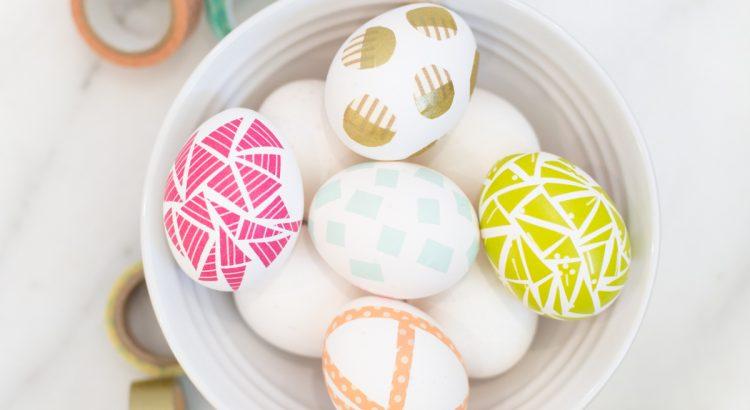 Яйца на Пасху со скотчем