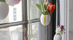Вазочки из яичной скорлупы