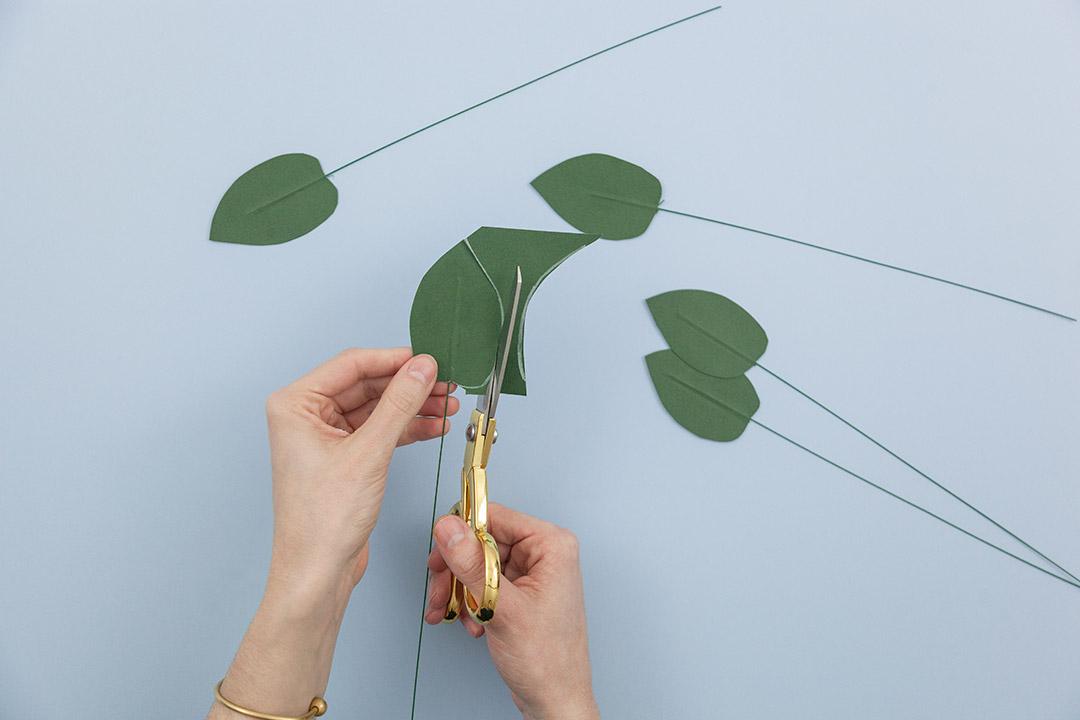 Вырезать листья