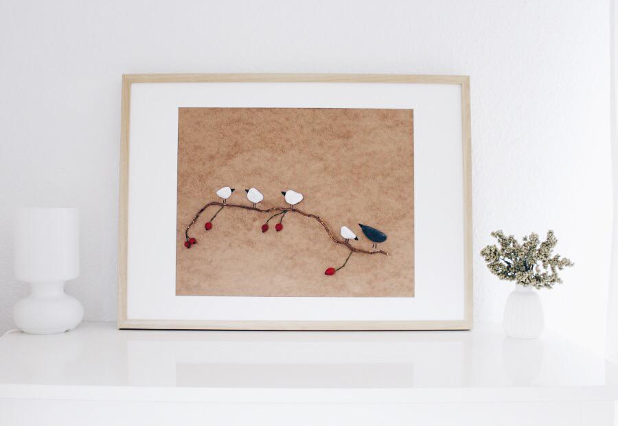 Картина с птичками