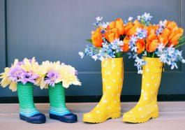 Резиновые сапоги-вазы