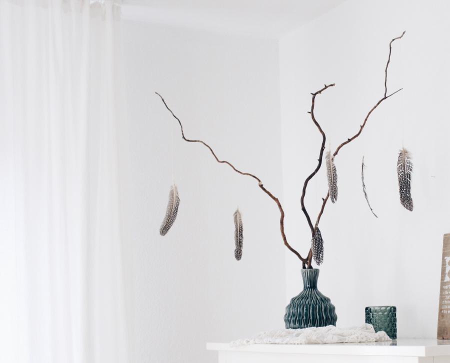 Дерево с перьями