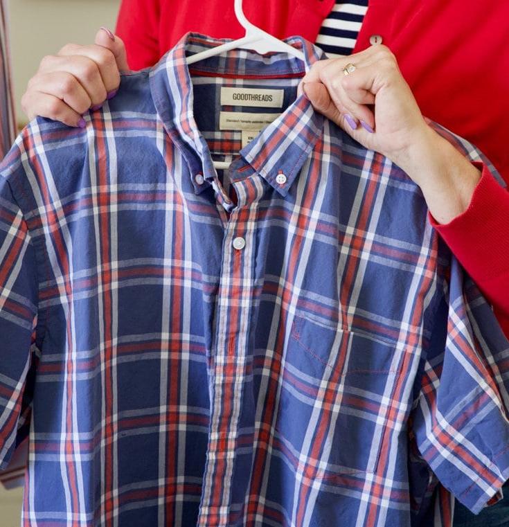 Рубашка с воротником