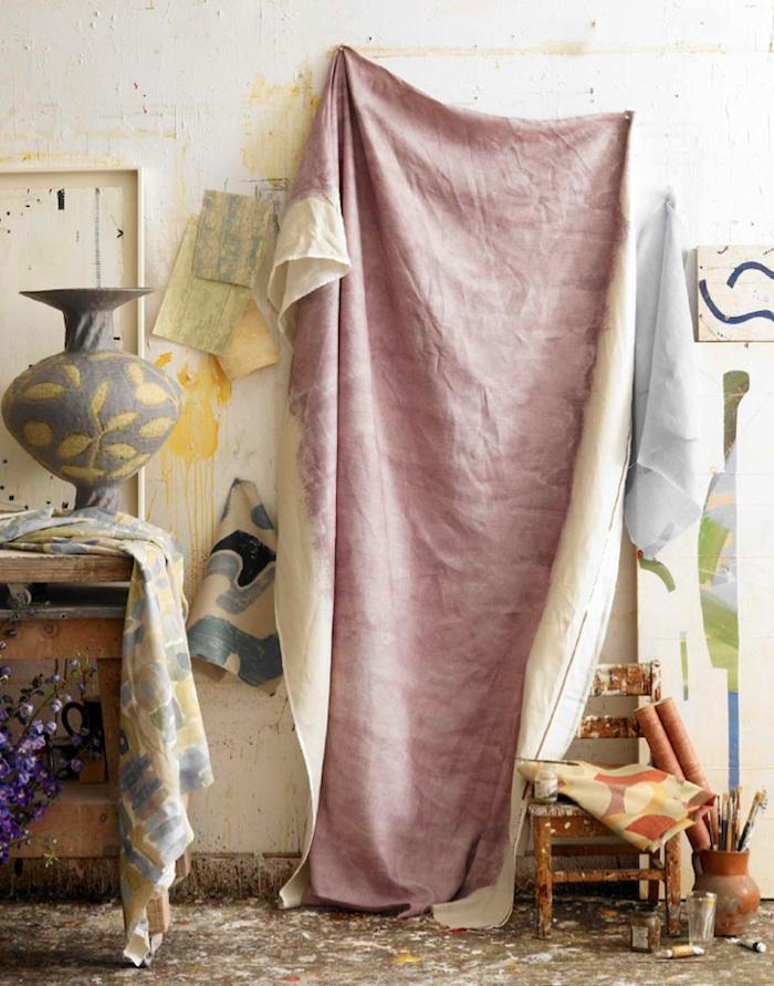 Как покрасить ткань гибискусом