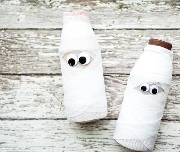 Как сделать привидение из бутылки
