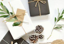 Как упаковать подарок зимой
