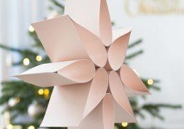 Рождественская звезда из картона