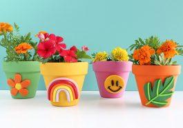 Декор для цветочных горшков