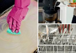 Чистка и мытье посуды