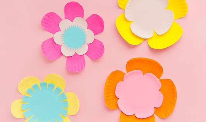 Как сделать цветы из тарелок