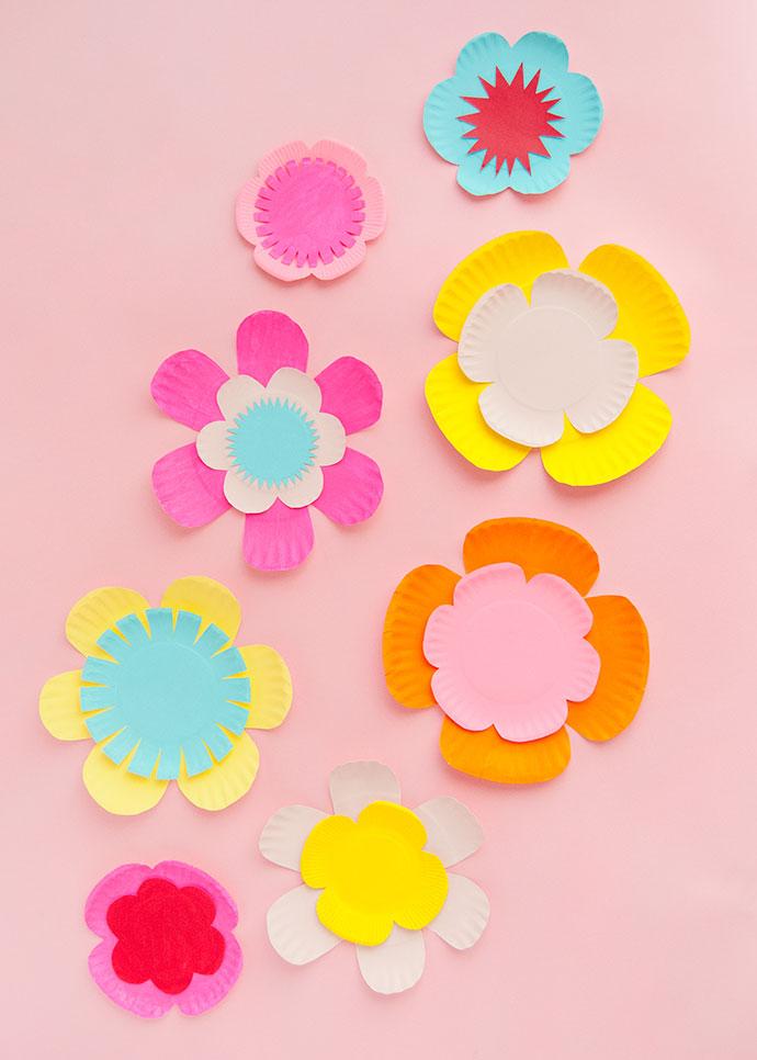 Цветы из тарелок