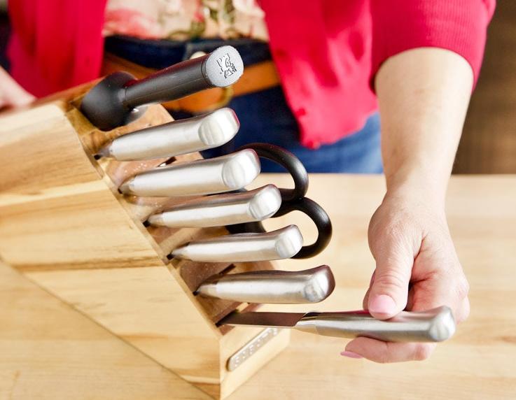 Как почистить подставку для ножей