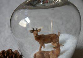 Снежный шар в бокале